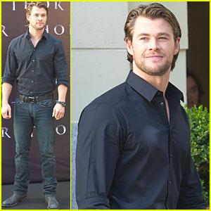 Chris Hemsworth: 'Thor' Photo Call in Madrid!