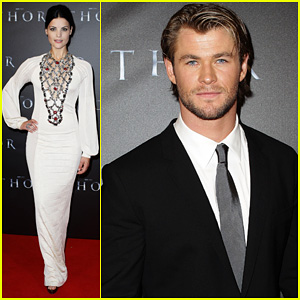 Chris Hemsworth: 'Thor' Premiere with Jaimie Alexander!