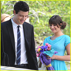 Lea Michele & Cory Monteith: Filming 'Glee' in Central Park!