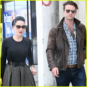 Dita Von Teese & Louis Marie de Castelbajac: Lunch Lovers!