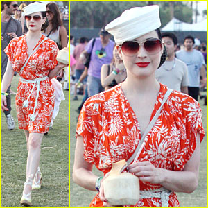 Dita Von Teese: Orange You Glad It's Coachella?