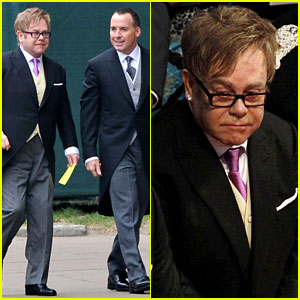 Elton John & David Furnish: Royal Wedding Guests!