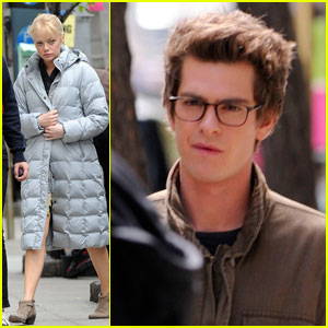 Andrew Garfield: 'Spider-Man' Set with Emma Stone!