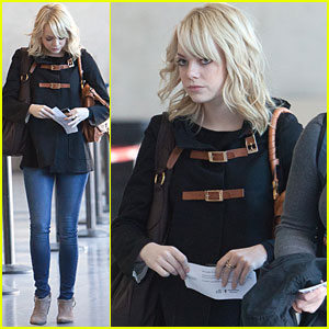 Emma Stone Takes Flight at LAX