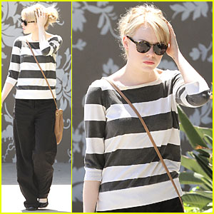 Emma Stone Shows Her Stripes