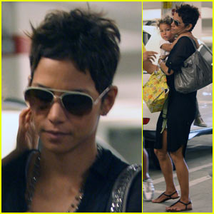 Halle Berry: Staples Center with Nahla!