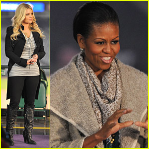 Jessica Simpson & Michelle Obama Support Military Families