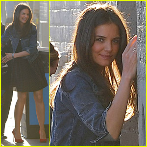 Katie Holmes Promotes 'The Kennedys'