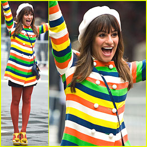 Lea Michele: Shooting 'Glee' in NYC!