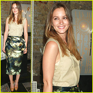 Leighton Meester Lights Empire State Building