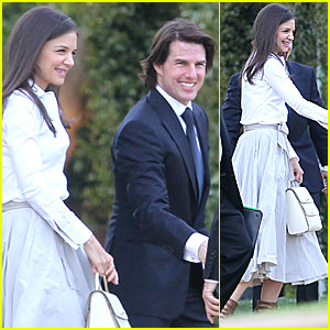 Tom Cruise &#038; Katie Holmes Attend Brad Grey's Wedding