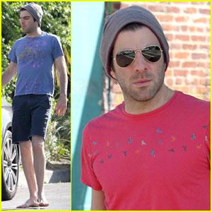 Zachary Quinto: Sunny Starbucks Run