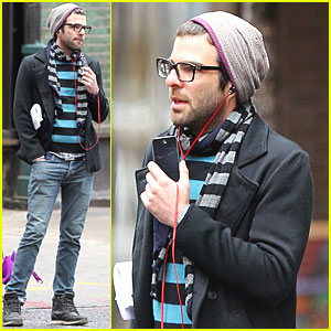 Zachary Quinto Walks & Talks in NYC