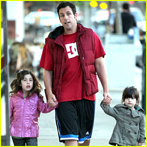 Adam Sandler: Strolling with Sadie & Sunny!
