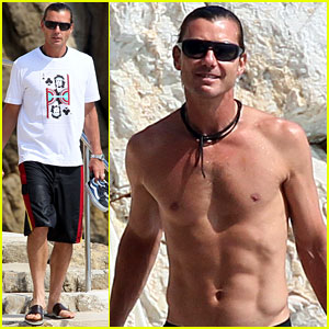 Gavin Rossdale: Killer Abs in Cannes!