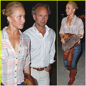 Hayden Panettiere & Dad Check Out Chelsea Handler