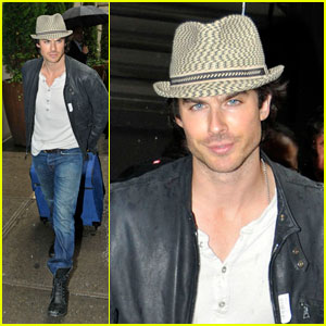Ian Somerhalder Hops Out of Hudson Bar