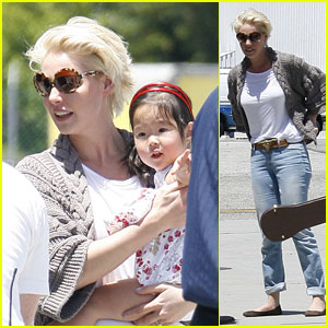 Katherine Heigl: Private Plane with Naleigh!
