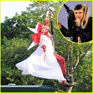 Lady Gaga Ziplines into 'GMA' Concert