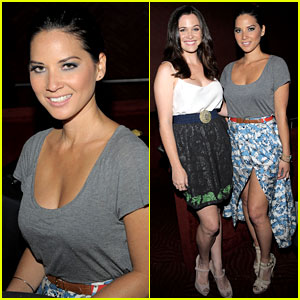 Olivia Munn: UNICEF Playlist Benefit with Christine Woods!