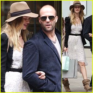 Rosie Huntington-Whiteley: Madison Avenue with Jason Statham!