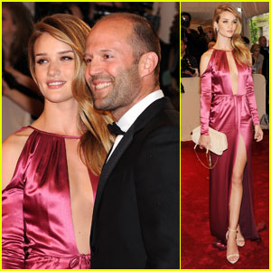Rosie Huntington-Whiteley - MET Ball 2011 with Jason Statham!