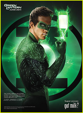 Ryan Reynolds: 'Green Lantern' Got Milk? Ad