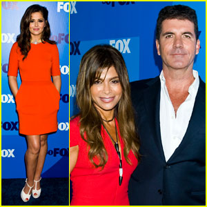 Cheryl Cole: Fox Upfront with Simon Cowell & Paula Abdul!
