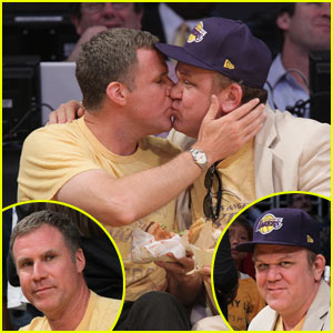 Will Ferrell & John C. Reilly: Kiss Cam Smooch!