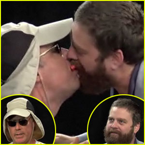 Will Ferrell & Zach Galifianakis: Kiss Kiss for Funny or Die!