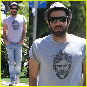 Zachary Quinto: Sunny Stroll in L.A.