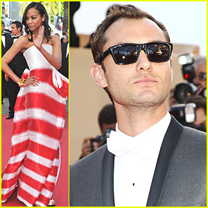 Zoe Saldana & Jude Law: 'Tree of Life' Cannes Premiere!