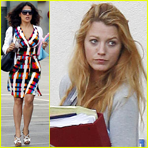 Blake Lively & Salma Hayek: 'Savages' Meeting!