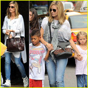 Heidi Klum: Big Apple Outing with the Kids!