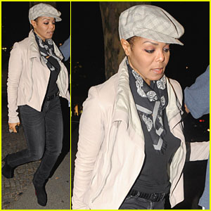 Janet Jackson: Sushi Dinner in Berlin!