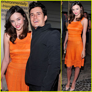 Miranda Kerr & Orlando Bloom: Global Green Awards!