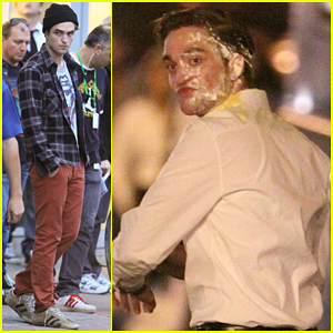 Robert Pattinson: Pie Face For 'Cosmopolis'!