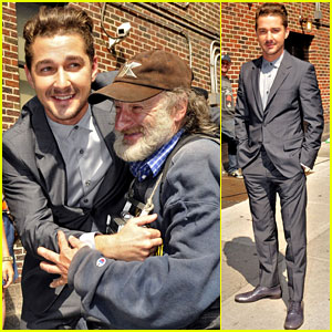 Shia LaBeouf: Letterman Appearance with Radioman!