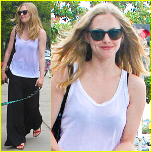 Amanda Seyfried: Sheer Stroll with Finn