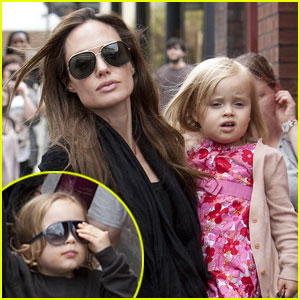 Angelina Jolie: Out in London with the Twins!