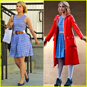 Dianna Agron Wears Quinn Fabray's Clothes!