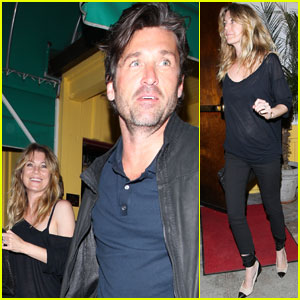 Ellen Pompeo &#038; Patrick Dempsey: Dan Tana's Twosome