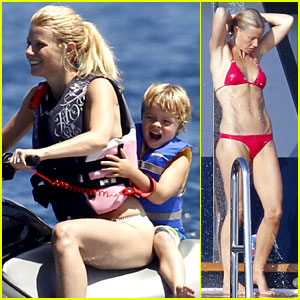 Gwyneth Paltrow: Bikini Babe with Apple & Moses!