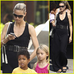 Heidi Klum: School Run with the Kids!