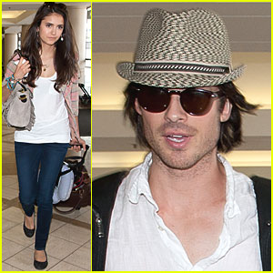 Ian Somerhalder & Nina Dobrev: Leaving LAX