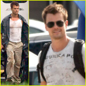 Josh Duhamel: 'Fire with Fire' Filming!
