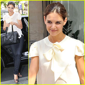 Katie Holmes: 'Don't Be Afraid' Promo in Paris!