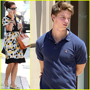 Patrick Schwarzenegger: Sunny Friday Stroll with Mom & Christopher!