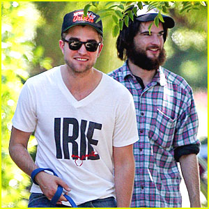 Robert Pattinson & Tom Sturridge Walk the Dog