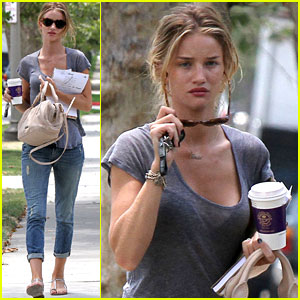 Rosie Huntington-Whiteley: West Hollywood Coffee Break